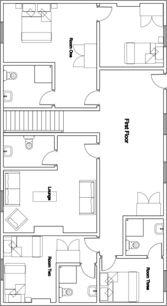 Chalet Mila - First Floor Plan
