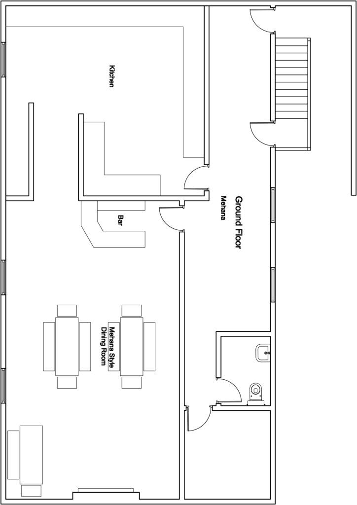 Chalet Mila Ground Floor Plan