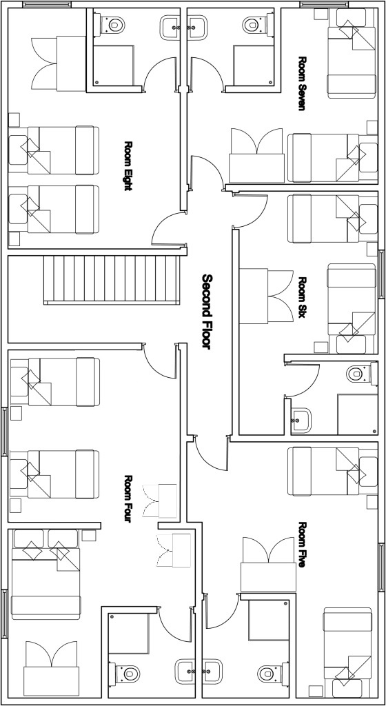 Chalet Mila 2nd floor plan