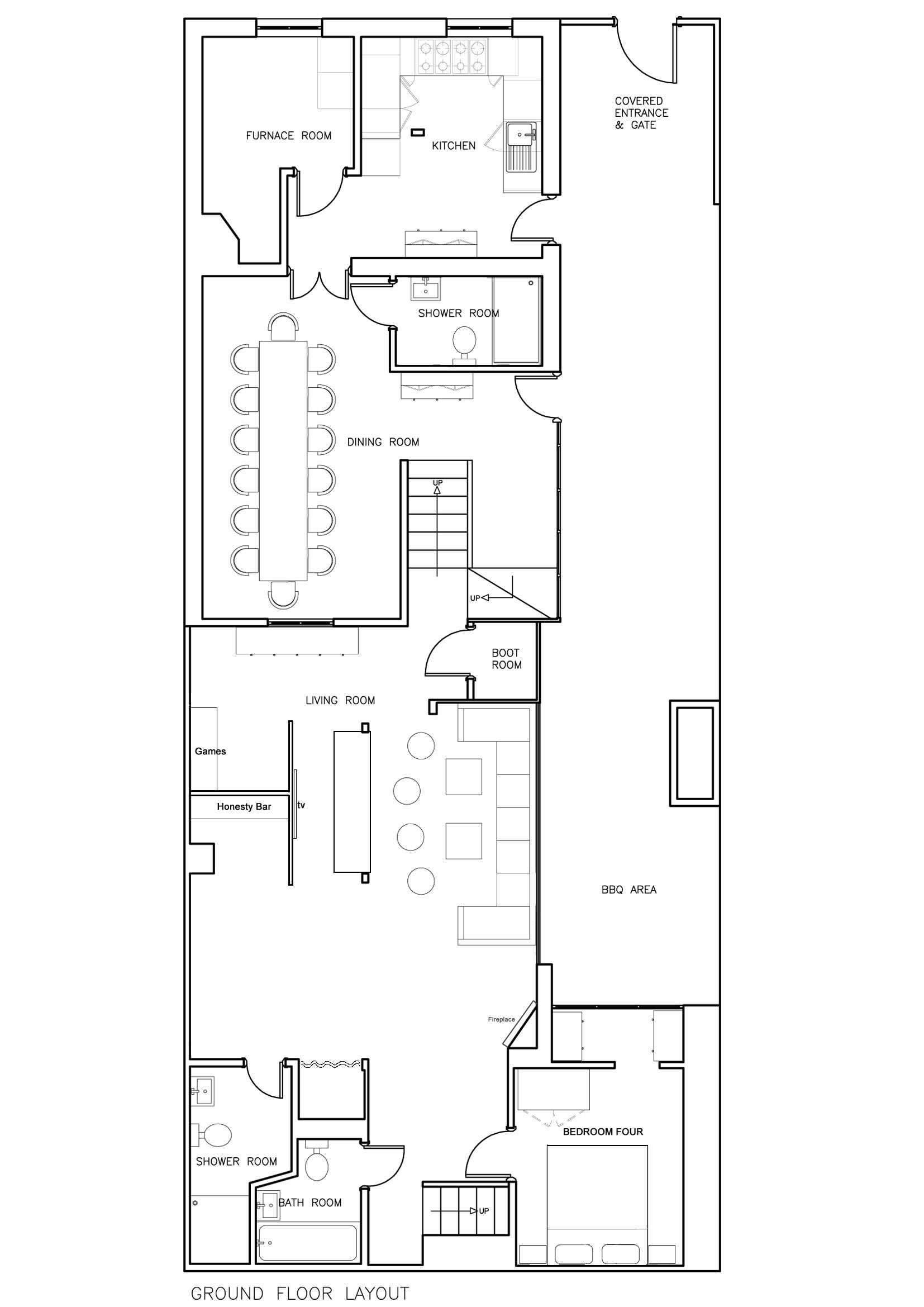 Chalet jora ground floor plan total chalets Ground floor house plan