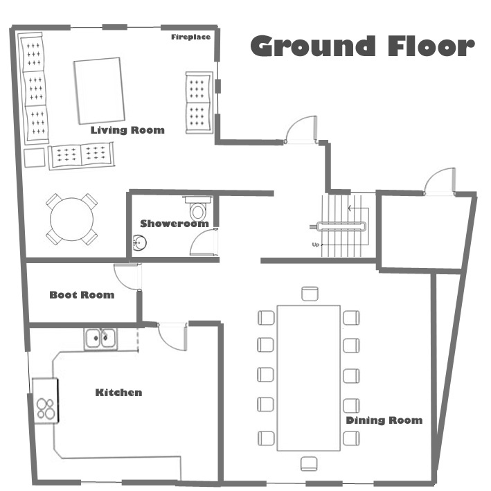 Small storied stair room house keralahousedesigns Ground floor house plans